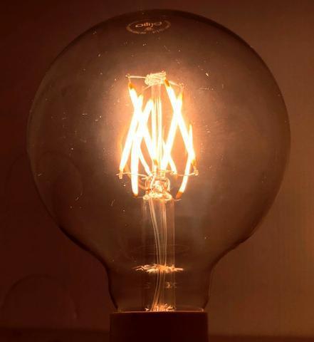 Lâmpada led g95 filamento e27 4w 2700k - brilia - vintage