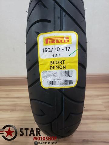 Pneu pirelli sport demon 130/70-17 twister - novo