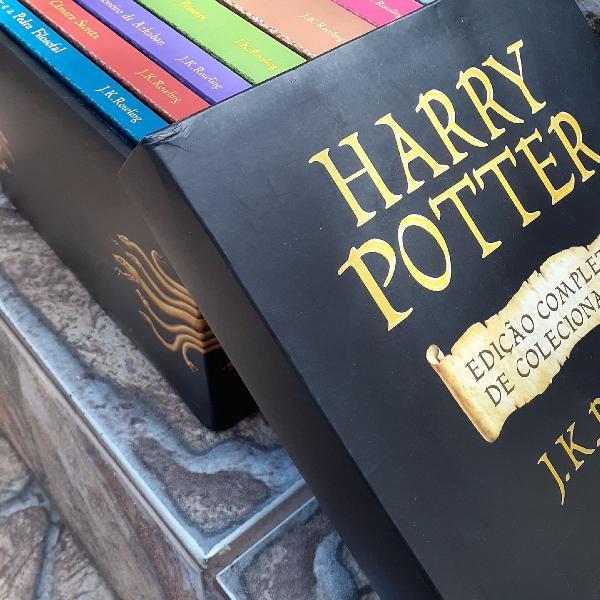 Coleção de livros harry potter capa dura- edição de