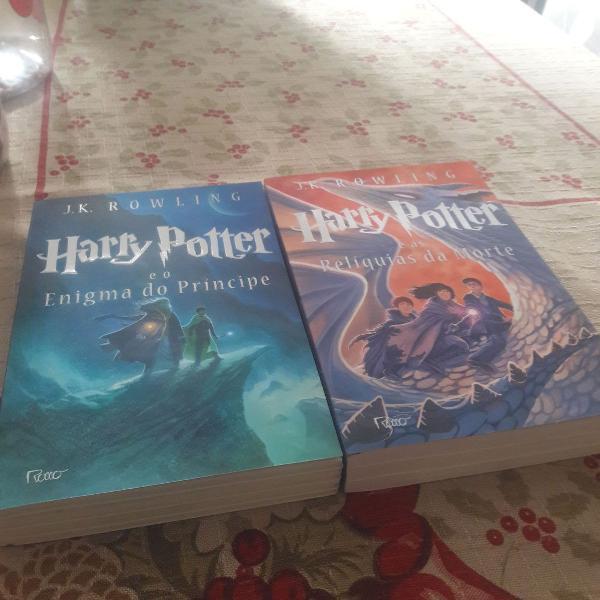 Harry potter livros 6 e 7