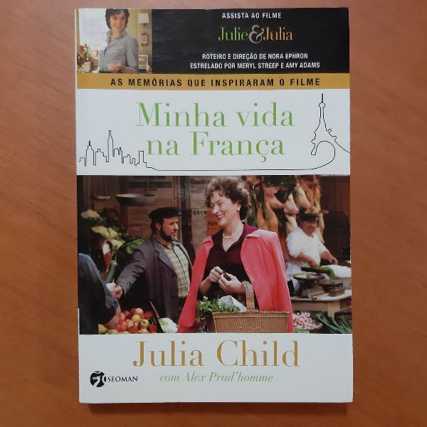 """Livro """"minha vida na frança"""", julia child"""