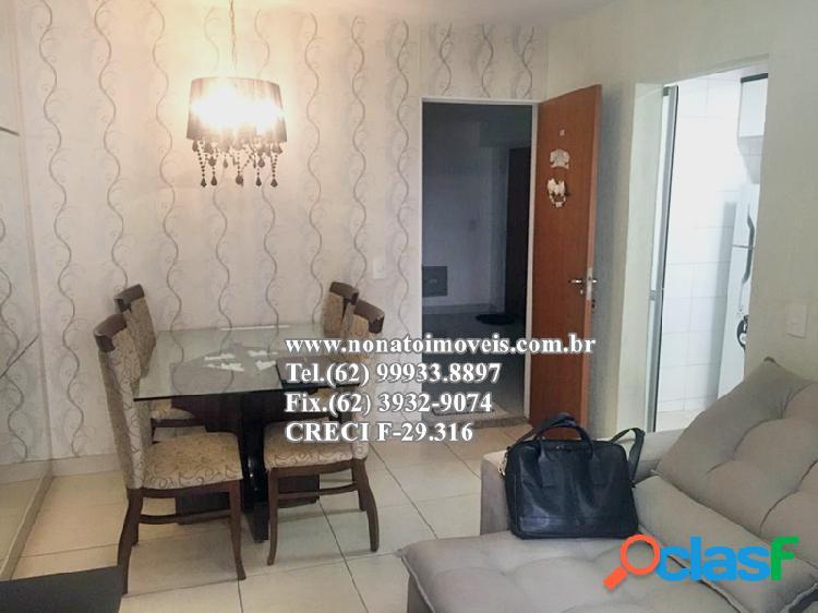 Apartamento 2 quartos (1 suíte), rico em armários, vila alpes - goiânia