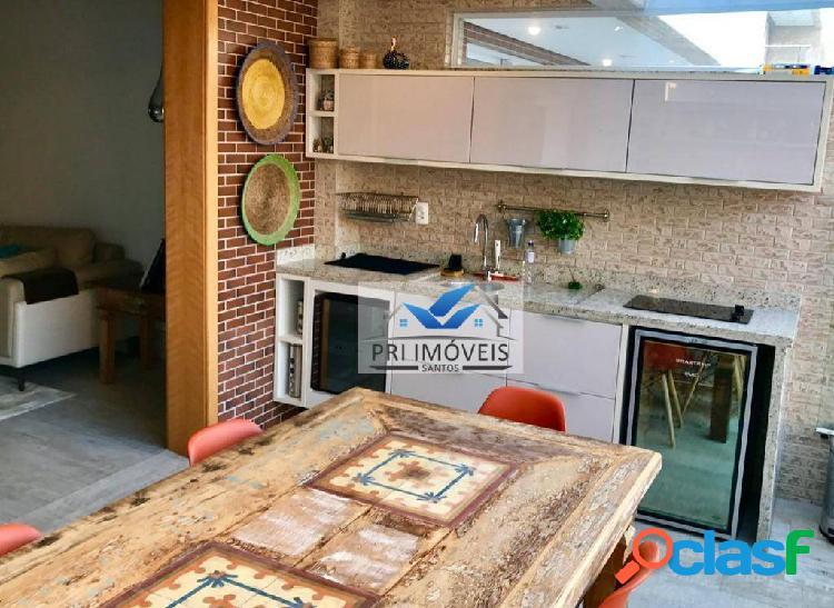 Apartamento garden à venda, 135 m² por r$ 940.000,00 - pompéia - santos/sp