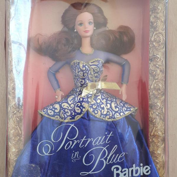Barbie portrait in blue