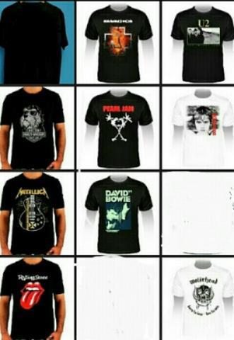 Camisetas de bandas de rock & animadas