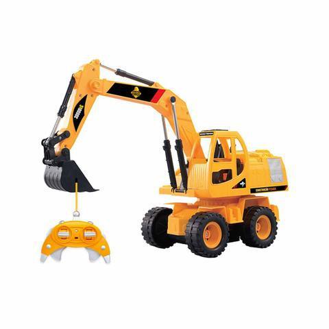 Escavadeira brinquedo constru force mundi toys