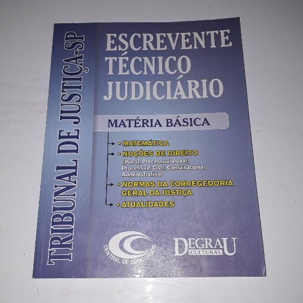 Escrevente técnico judiciário
