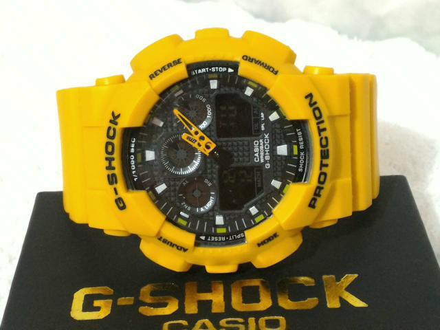 G-shock ga-100 amarelo camuflado ou vermelho
