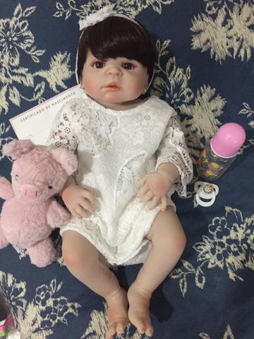 Linda boneca reborn silicone em pronta entrega