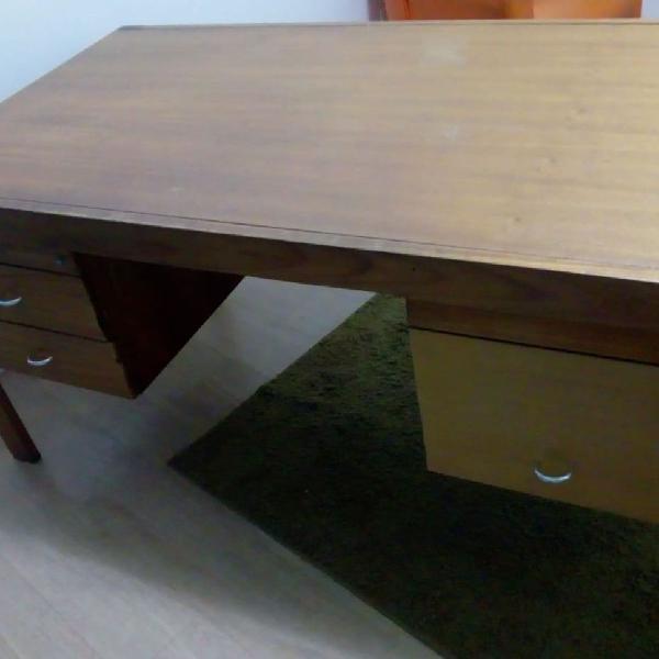 Mesa escritório madeira antiga