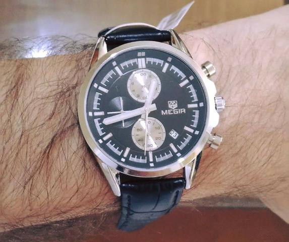 Relógio masculino megir5005 - social/casual