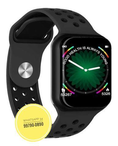 Relógio smart bluetooth notificações android e ios f8