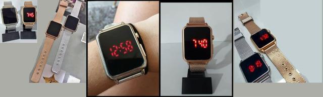 Relogio led touch screen inspirado no apple watch, novos