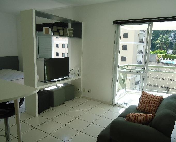 Studio mobiliado no morumbi: 33m, 1 vaga, terraço e lazer.
