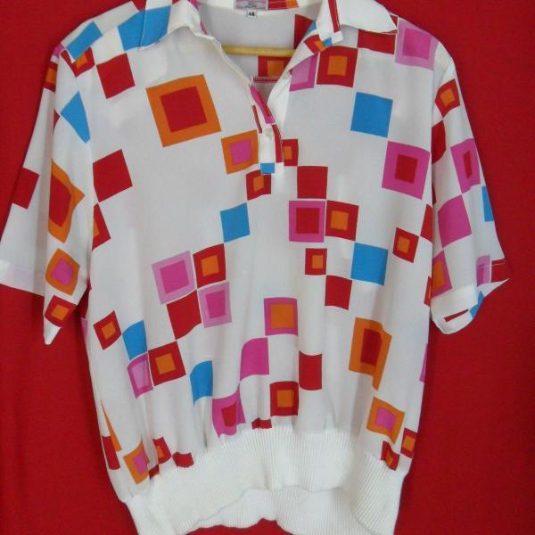 camisa retro/vintage colorida
