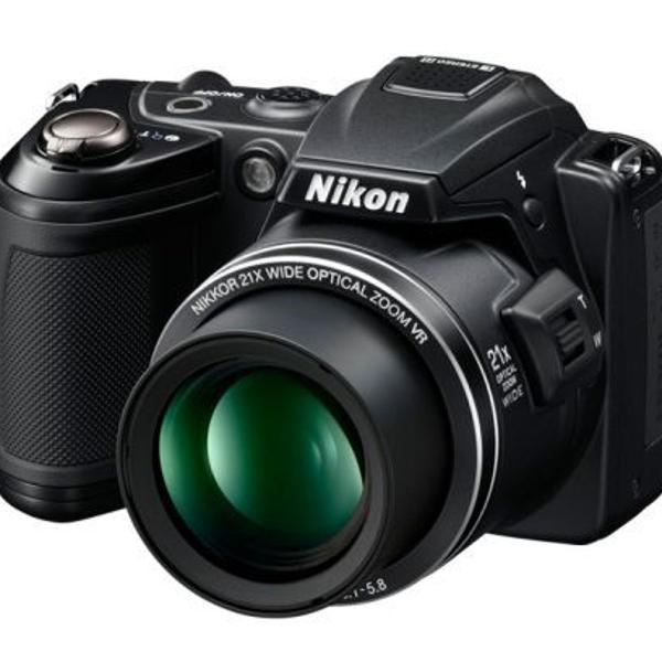 Câmera digital nikon coolpix l120 + cartão 16gb e bolsa