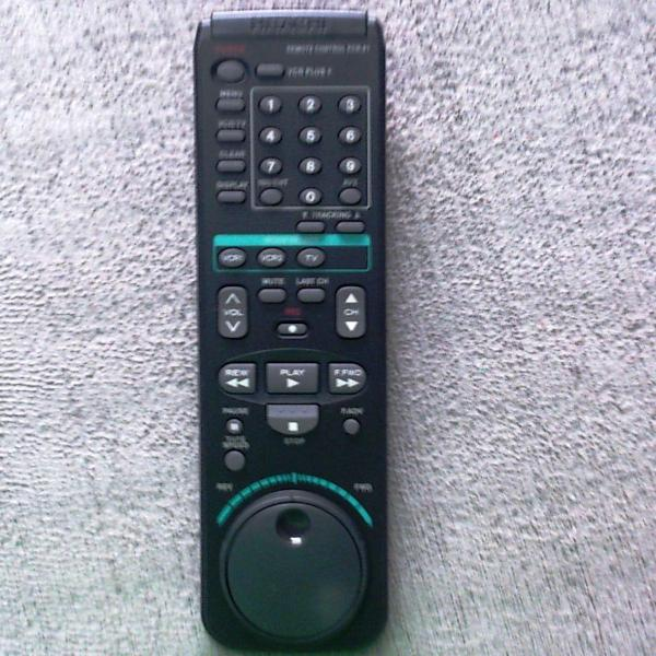 Controle remoto vídeo cassete philco modelo pcr61 original