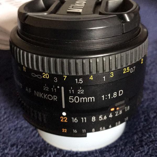Lente nikon nikkor af 50mm f/1.8d