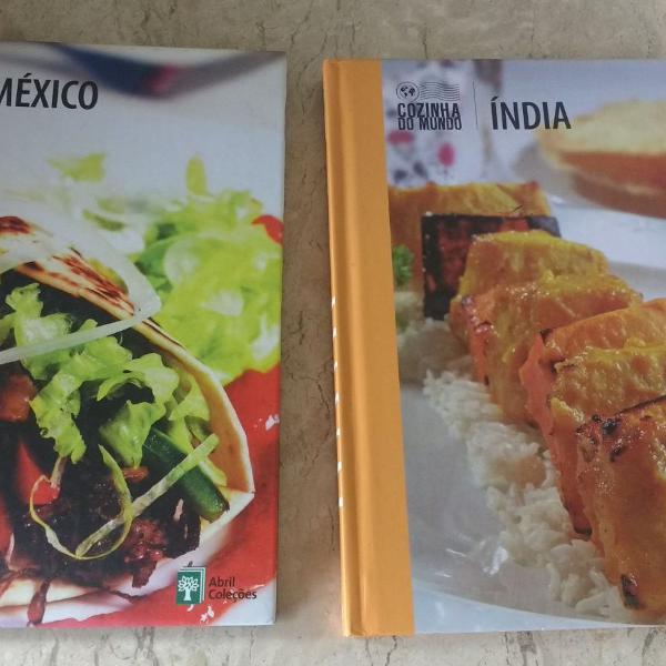 Livros de receitas índia e méxico