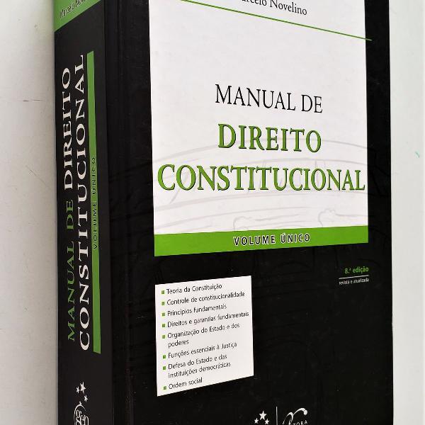 Manual de direito constitucional - volume único - 8ª