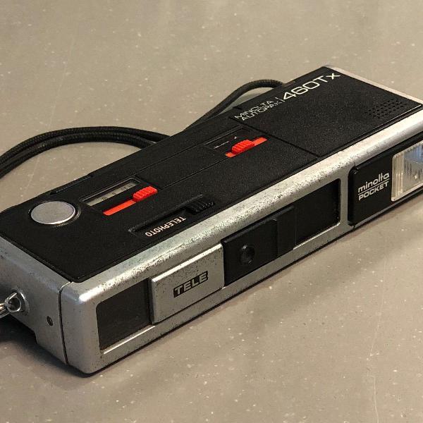 Maquina fotografica minolta pocket autopak 460tx com case