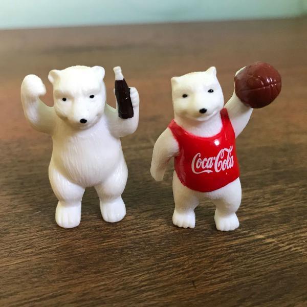 Miniatura urso olimpico coca cola coleção hobbi