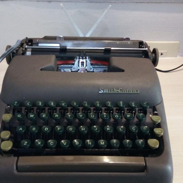 máquina de escrever datilografia smith corona sterling 1952