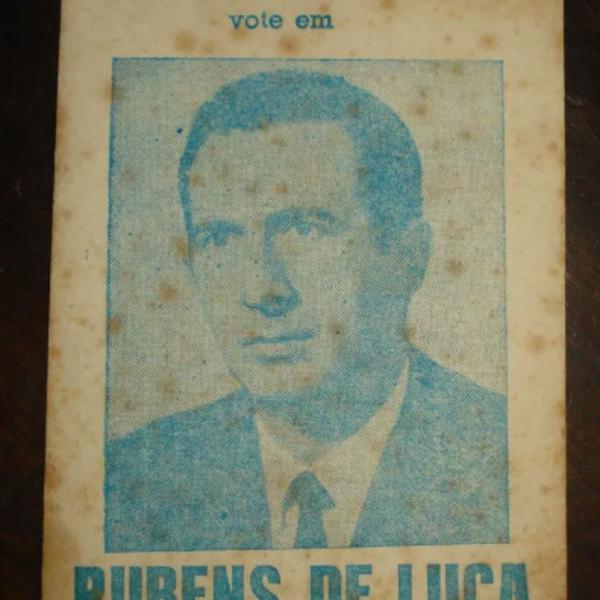 Santinho folder eleição de 1966 deputado rubens de luca