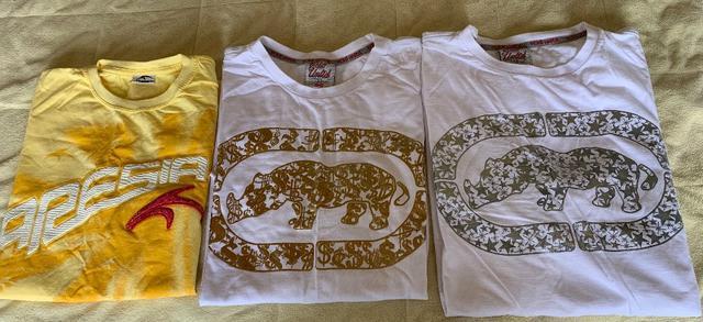 5 camisetas manga curta da ecko red original ng e p algumas