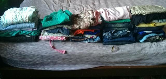 55 peças de roupa por 100 reais