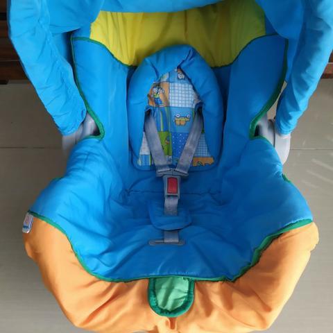 Bebê conforto galzerano azul colorido