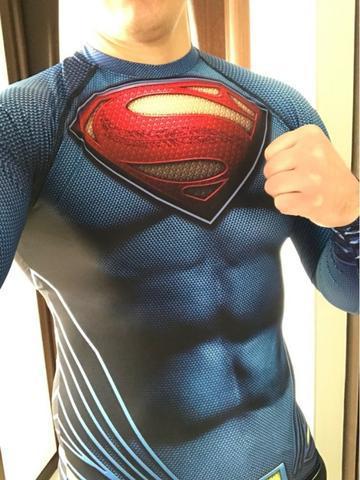 Camisa 3d super-herois