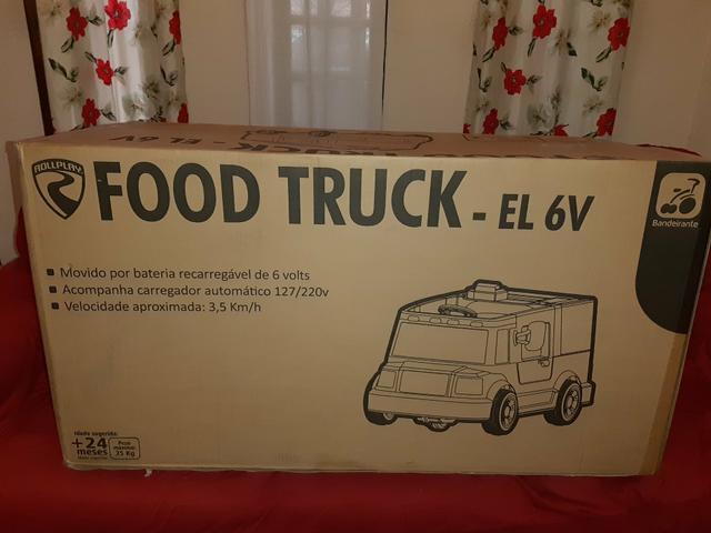 Carrinho elétrico infantil food truck bandeirantes - custa