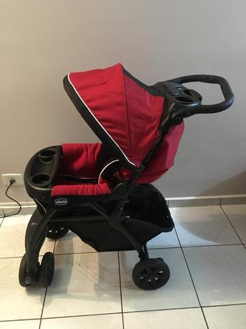 Carrinho + bebê conforto + bolsa térmica