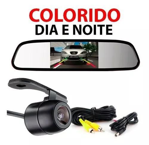 Espelho retrovisor interno + câmera de ré infra gol prisma