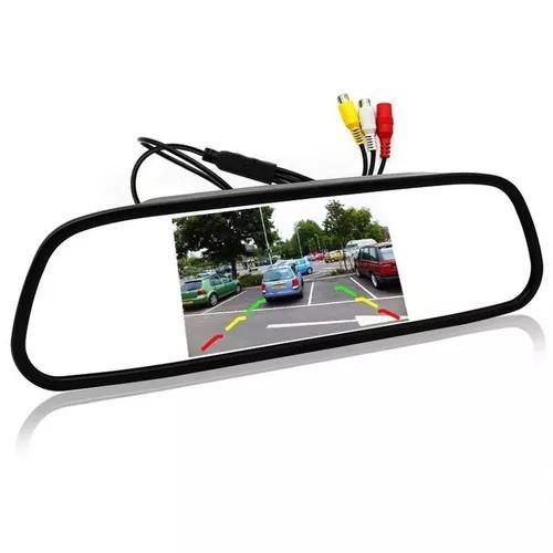 Espelho retrovisor interno com tela câmera ré
