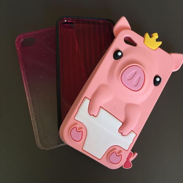 Kit 3 capinhas iphone 4/4s