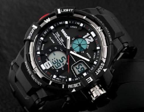 Lançamento relógio skmei focal digital e analógico skimei