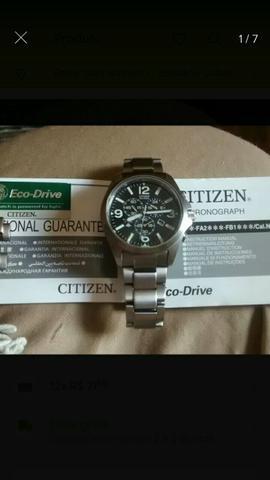 Relógio citizen eco drive titaniun at0660-64e