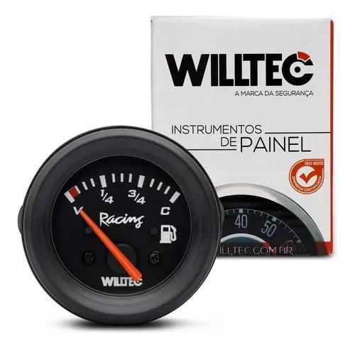 Relógio medidor de combustivel 52mm 12v universal willtec