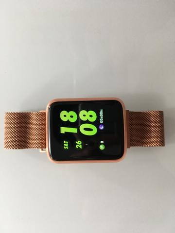 Relógio smartwatch pulseira metal