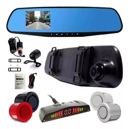 Retrovisor câmera frontal e ré + sensor de estacionamento
