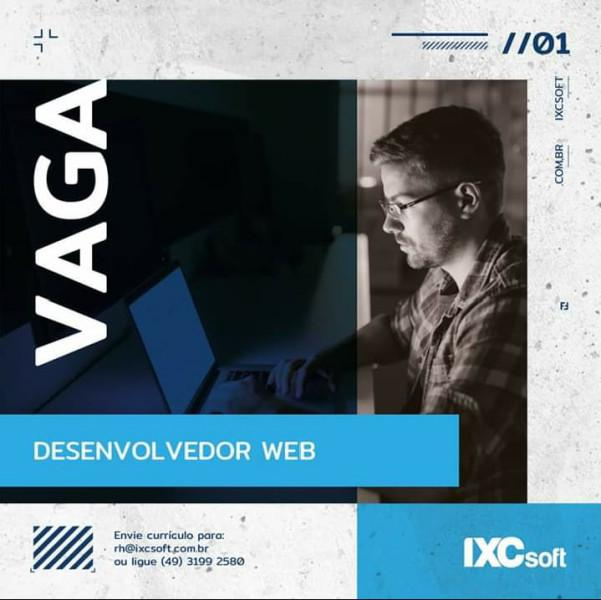 Vaga para desenvolvedor web