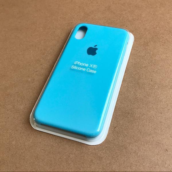 capinha silicone apple - iphone xr azul bebê