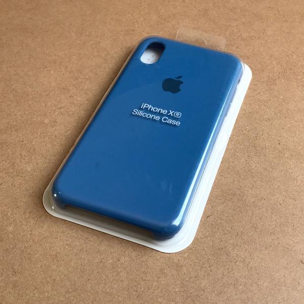 Capinha silicone apple - iphone xr azul marinho