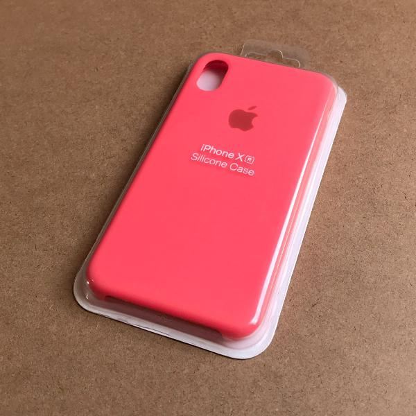 Capinha silicone apple - iphone xr laranja neon