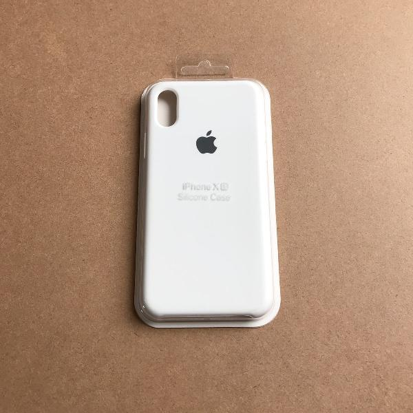 Capinha silicone apple - iphone xs branco