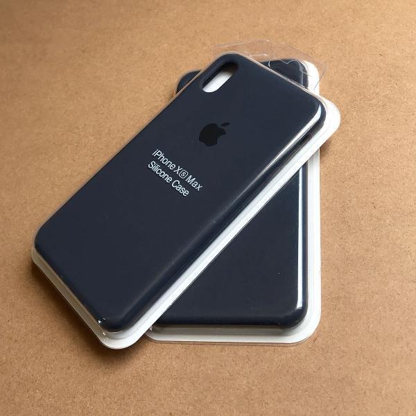 Capinha silicone apple - iphone xs max azul marinho