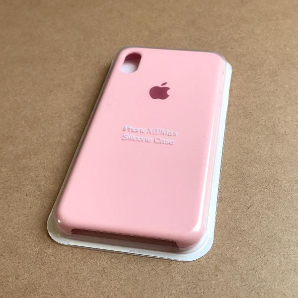 Capinha silicone apple - iphone xs max rosa bebê