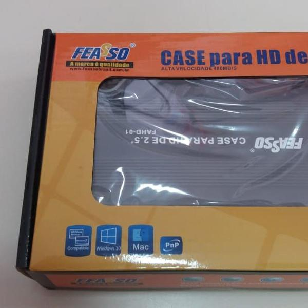"""Case capa hd externo feasso notebook 2,5"""" plastico abs com"""